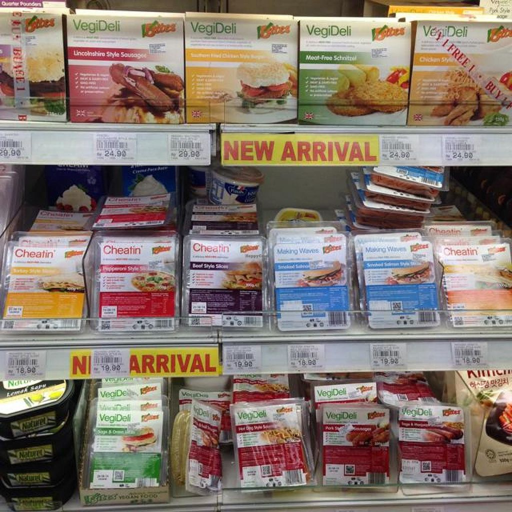 "Photo of Village Grocer  by <a href=""/members/profile/AndyT"">AndyT</a> <br/>Vegan deli slice/sausage alternatives <br/> April 10, 2014  - <a href='/contact/abuse/image/46267/67316'>Report</a>"
