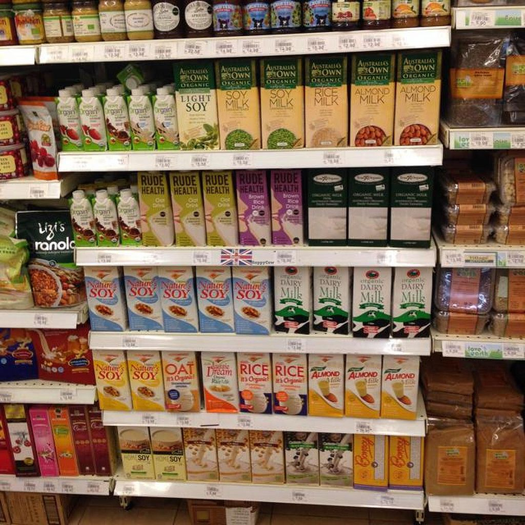 "Photo of Village Grocer  by <a href=""/members/profile/AndyT"">AndyT</a> <br/>Non-dairy milk selection <br/> April 10, 2014  - <a href='/contact/abuse/image/46267/67318'>Report</a>"