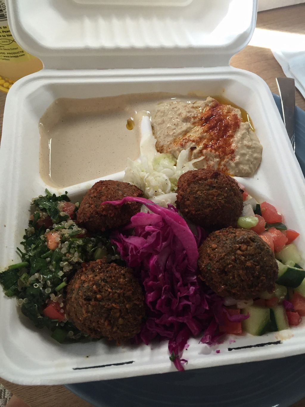 """Photo of Fala Bar  by <a href=""""/members/profile/maplemag"""">maplemag</a> <br/>Falafel plate <br/> December 10, 2015  - <a href='/contact/abuse/image/46290/127909'>Report</a>"""