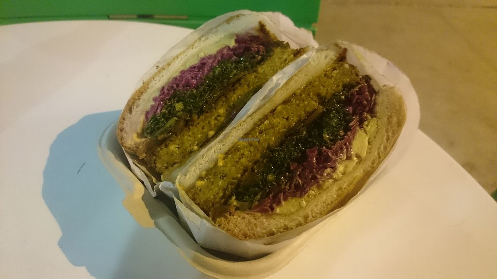 """Photo of Fala Bar  by <a href=""""/members/profile/chb-pbfp"""">chb-pbfp</a> <br/>kale burger <br/> October 30, 2017  - <a href='/contact/abuse/image/46290/320249'>Report</a>"""