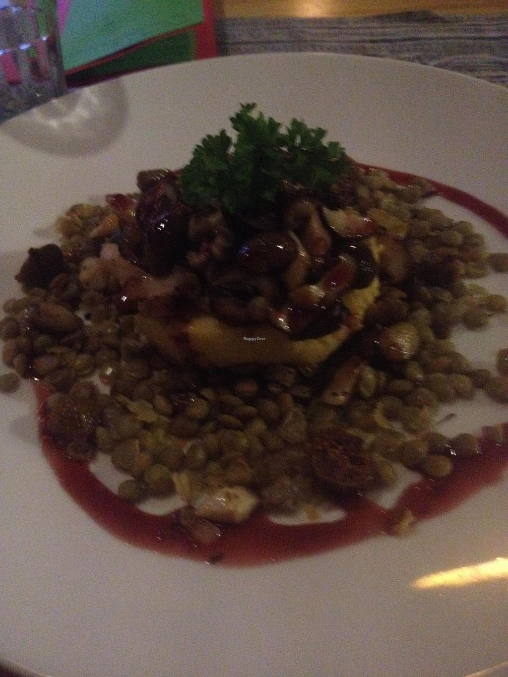 """Photo of Prem Bistro and Cafe  by <a href=""""/members/profile/Kimxula"""">Kimxula</a> <br/>Polenta with fig, hazelnut and lentils...delicious! <br/> June 1, 2015  - <a href='/contact/abuse/image/46313/104340'>Report</a>"""