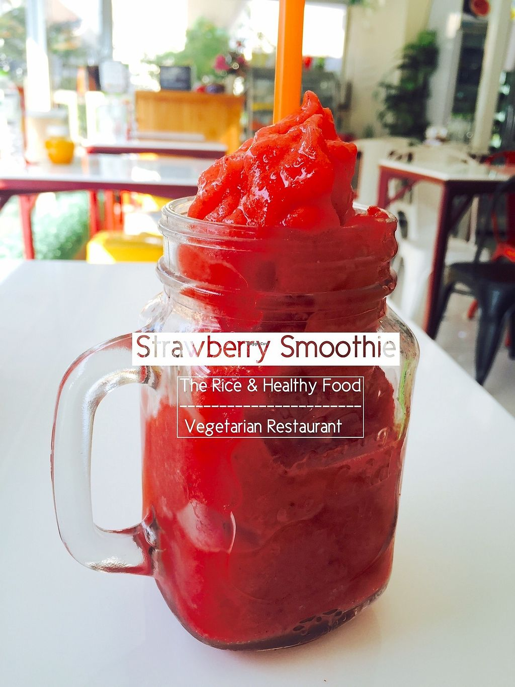 """Photo of The Rice and Healthy Food  by <a href=""""/members/profile/tamontim"""">tamontim</a> <br/>Strawberry smoothie <br/> July 8, 2017  - <a href='/contact/abuse/image/46314/277755'>Report</a>"""