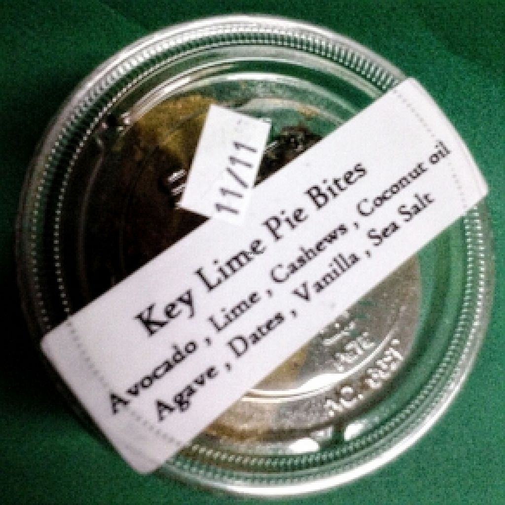 "Photo of RAWkin' Juice  by <a href=""/members/profile/kimartist"">kimartist</a> <br/>KEY LIME PIE BITES dessert @ RAWkin' Juice <br/> November 8, 2015  - <a href='/contact/abuse/image/46327/124226'>Report</a>"