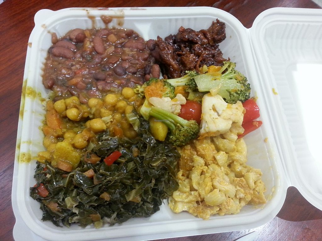 """Photo of CLOSED: Vital-Life Vegan  by <a href=""""/members/profile/Vegan%20GiGi"""">Vegan GiGi</a> <br/>A sampling of every dish they had that day <br/> May 15, 2016  - <a href='/contact/abuse/image/46333/149145'>Report</a>"""