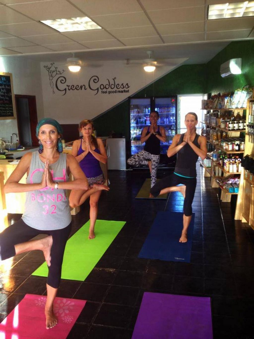 """Photo of CLOSED: Green Goddess Feel Good Market  by <a href=""""/members/profile/JoannaCoonFoxT"""">JoannaCoonFoxT</a> <br/>weekly morning yoga! <br/> April 5, 2014  - <a href='/contact/abuse/image/46341/67093'>Report</a>"""