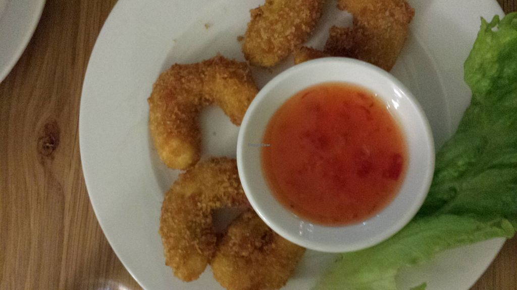 "Photo of Loving Hut - Northcote  by <a href=""/members/profile/Aloo"">Aloo</a> <br/>crumbed prawns (entree) <br/> October 28, 2015  - <a href='/contact/abuse/image/46481/122988'>Report</a>"