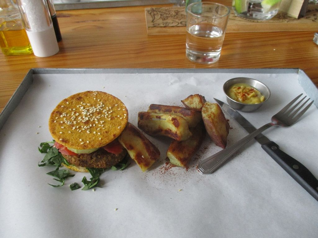 """Photo of Free Food  by <a href=""""/members/profile/Wolfmoon"""">Wolfmoon</a> <br/>Delicious Alpha burger with sweet potatoes and coriander sauce <br/> February 27, 2016  - <a href='/contact/abuse/image/46490/137944'>Report</a>"""
