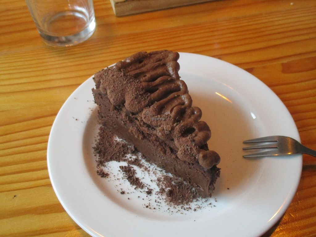 """Photo of Free Food  by <a href=""""/members/profile/Wolfmoon"""">Wolfmoon</a> <br/>There is no leaving this restaurant without trying this rich, delectable and oh so yummy moist chocolate cake <br/> February 27, 2016  - <a href='/contact/abuse/image/46490/137947'>Report</a>"""