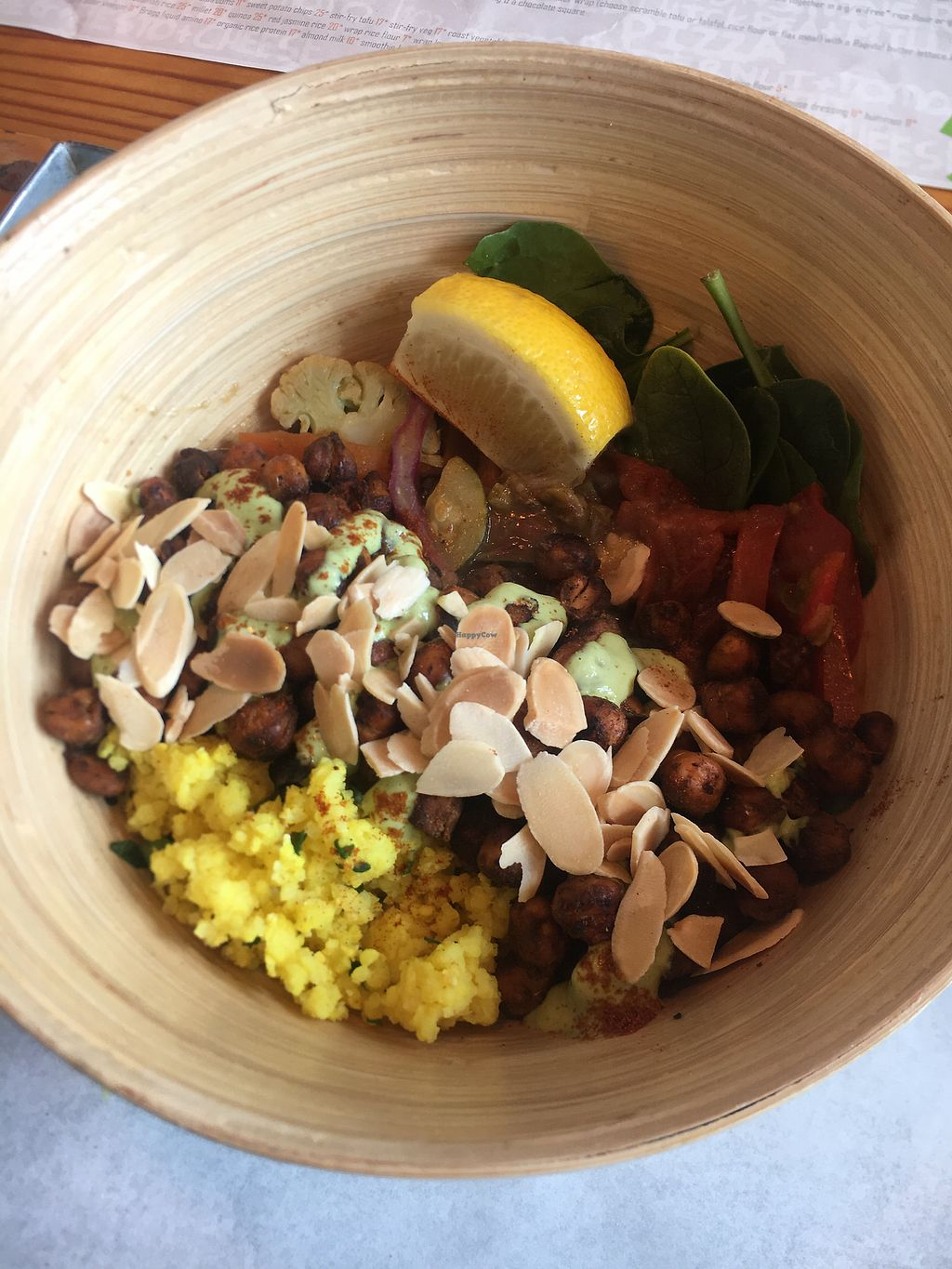 """Photo of Free Food  by <a href=""""/members/profile/reesebergeron"""">reesebergeron</a> <br/>millet and chickpea bamboo bowl ❤️ <br/> August 30, 2017  - <a href='/contact/abuse/image/46490/298873'>Report</a>"""