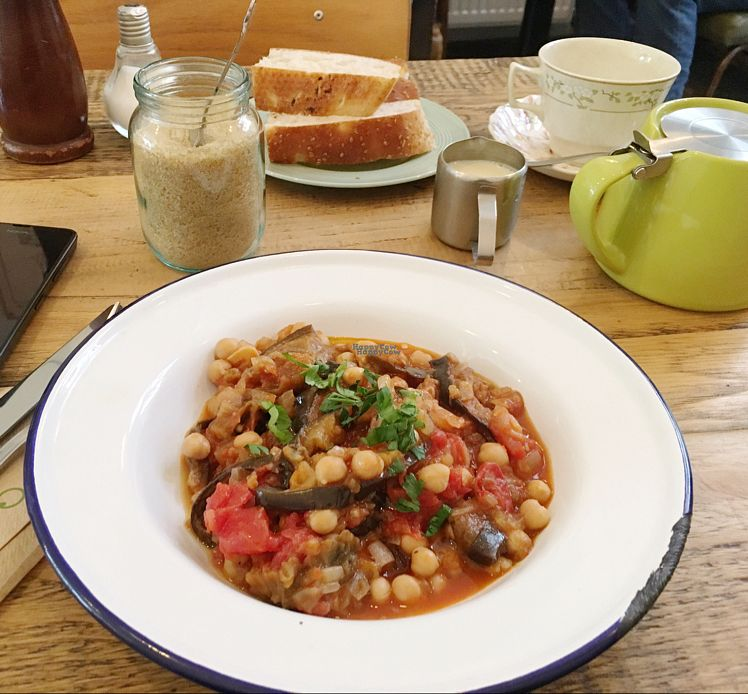 """Photo of EZ and Moss  by <a href=""""/members/profile/Windlekins"""">Windlekins</a> <br/>aubergine and chickpea stew <br/> September 7, 2016  - <a href='/contact/abuse/image/46491/174092'>Report</a>"""