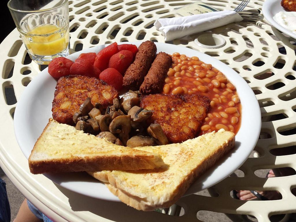 """Photo of Smile Cafe  by <a href=""""/members/profile/Jayneisastarr"""">Jayneisastarr</a> <br/>Big Vegan English Breakfast <br/> September 1, 2014  - <a href='/contact/abuse/image/46493/78823'>Report</a>"""