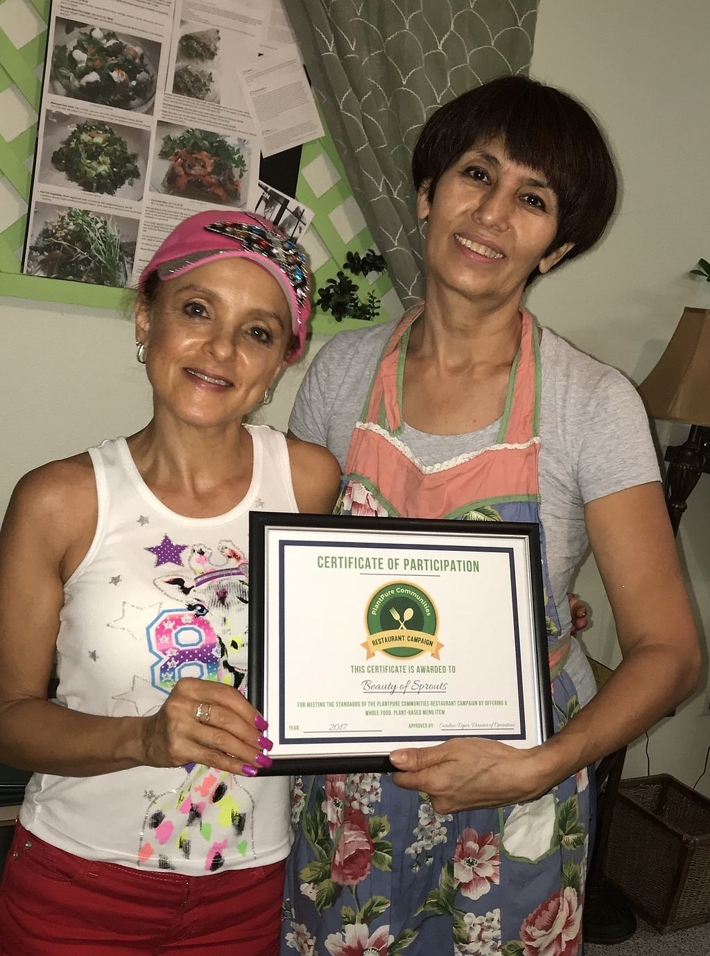 """Photo of Beauty of Sprouts  by <a href=""""/members/profile/BeGreenwithAmy"""">BeGreenwithAmy</a> <br/>Beauty of Sprouts earned the Plant Pure Nation Restaurant Certificate for offering vegan menu items, oil free upon request! <br/> December 28, 2017  - <a href='/contact/abuse/image/46509/340075'>Report</a>"""