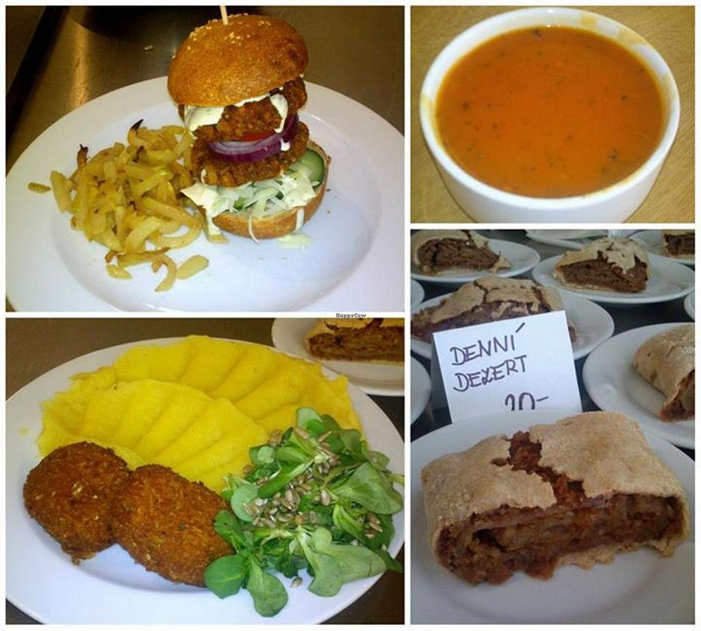 """Photo of Vegit Point  by <a href=""""/members/profile/community"""">community</a> <br/>Vege burger Tomato homemade bun, chips, dressing, Patties with mashed potatoes, apple strudel <br/> May 23, 2014  - <a href='/contact/abuse/image/46517/70598'>Report</a>"""