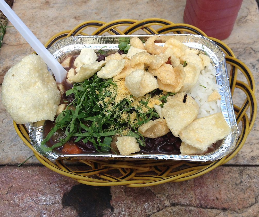 """Photo of Carro Vegetariano - Mobile Trailer  by <a href=""""/members/profile/vegan_ryan"""">vegan_ryan</a> <br/>Feijoada <br/> August 1, 2015  - <a href='/contact/abuse/image/46522/289866'>Report</a>"""