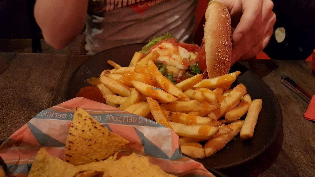 """Photo of Bar Loosister  by <a href=""""/members/profile/NicNewbs"""">NicNewbs</a> <br/>sweet chilli halloumi burger <br/> February 7, 2018  - <a href='/contact/abuse/image/46524/356087'>Report</a>"""