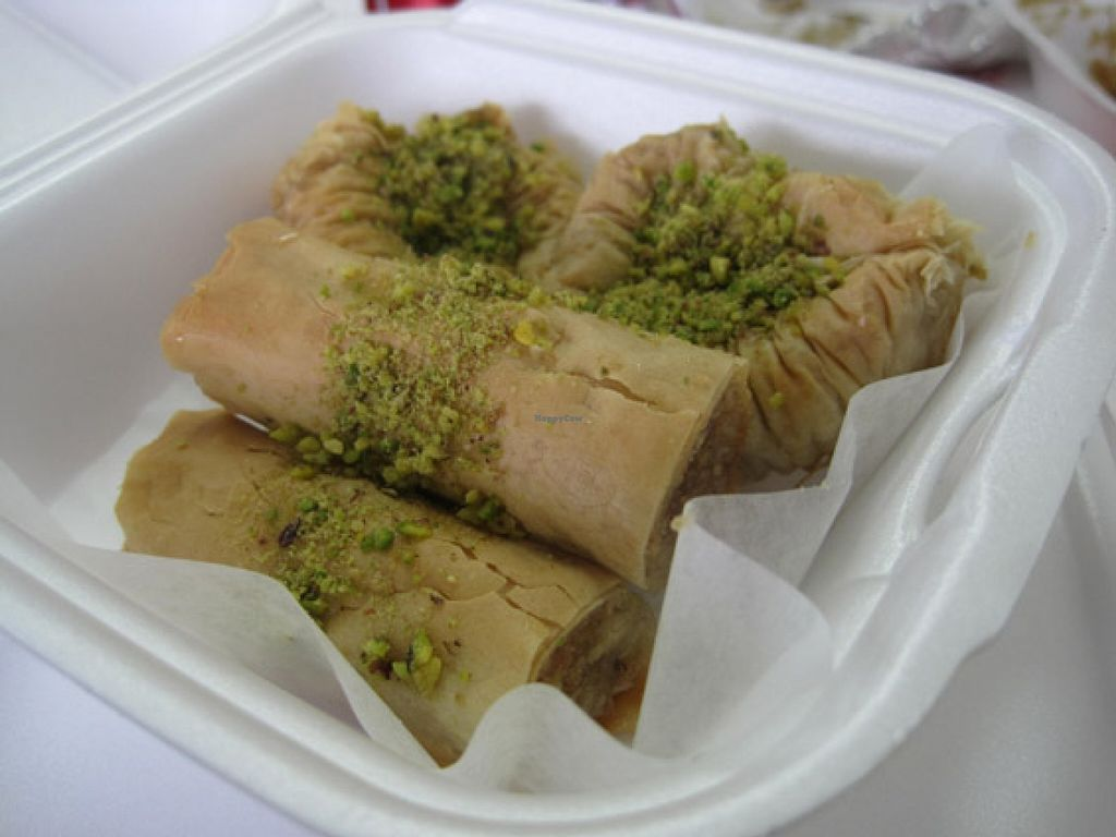 """Photo of 57 Cals  by <a href=""""/members/profile/Babette"""">Babette</a> <br/>Vegan Baklavas. Two with pistachios, two with other nuts. They are really good and sweet <br/> November 2, 2015  - <a href='/contact/abuse/image/46543/123544'>Report</a>"""