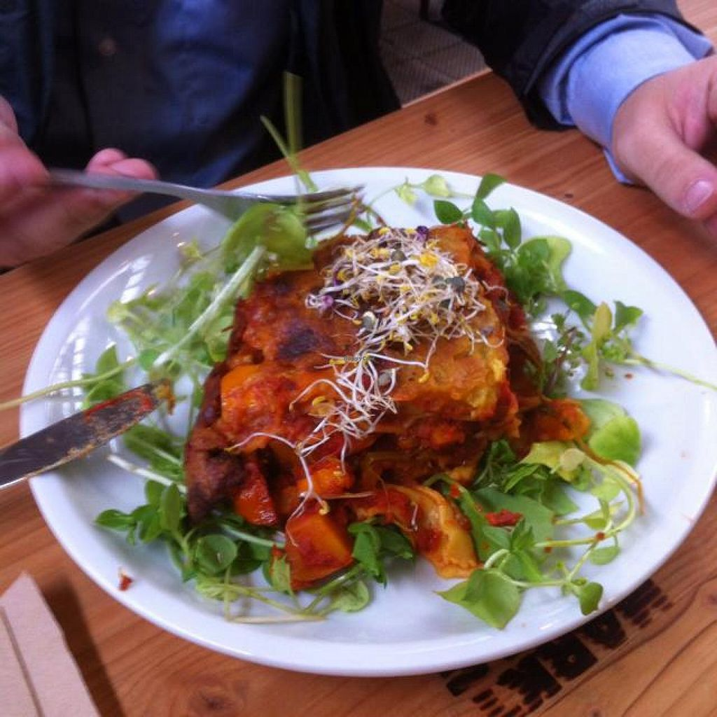 "Photo of CLOSED: Kantine Neun  by <a href=""/members/profile/J-Veg"">J-Veg</a> <br/>vegan squash lasagne <br/> April 21, 2014  - <a href='/contact/abuse/image/46557/68218'>Report</a>"