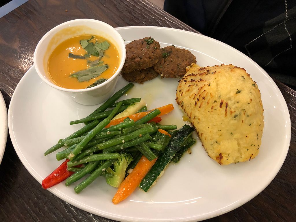 "Photo of 222 Vegan Cuisine  by <a href=""/members/profile/MonacoMel"">MonacoMel</a> <br/>Seitan and mash  <br/> April 10, 2018  - <a href='/contact/abuse/image/4655/383539'>Report</a>"