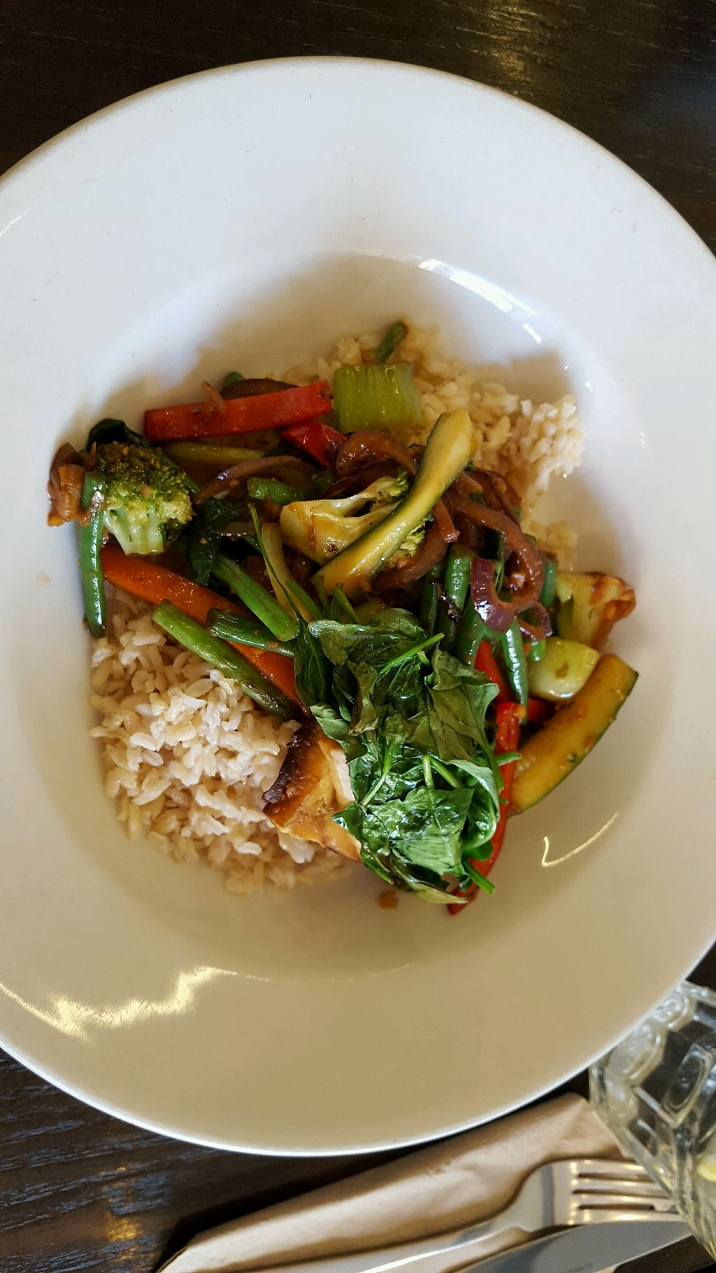 "Photo of 222 Vegan Cuisine  by <a href=""/members/profile/daria81"">daria81</a> <br/>ben's special with tofu and brown rice <br/> May 18, 2018  - <a href='/contact/abuse/image/4655/401304'>Report</a>"