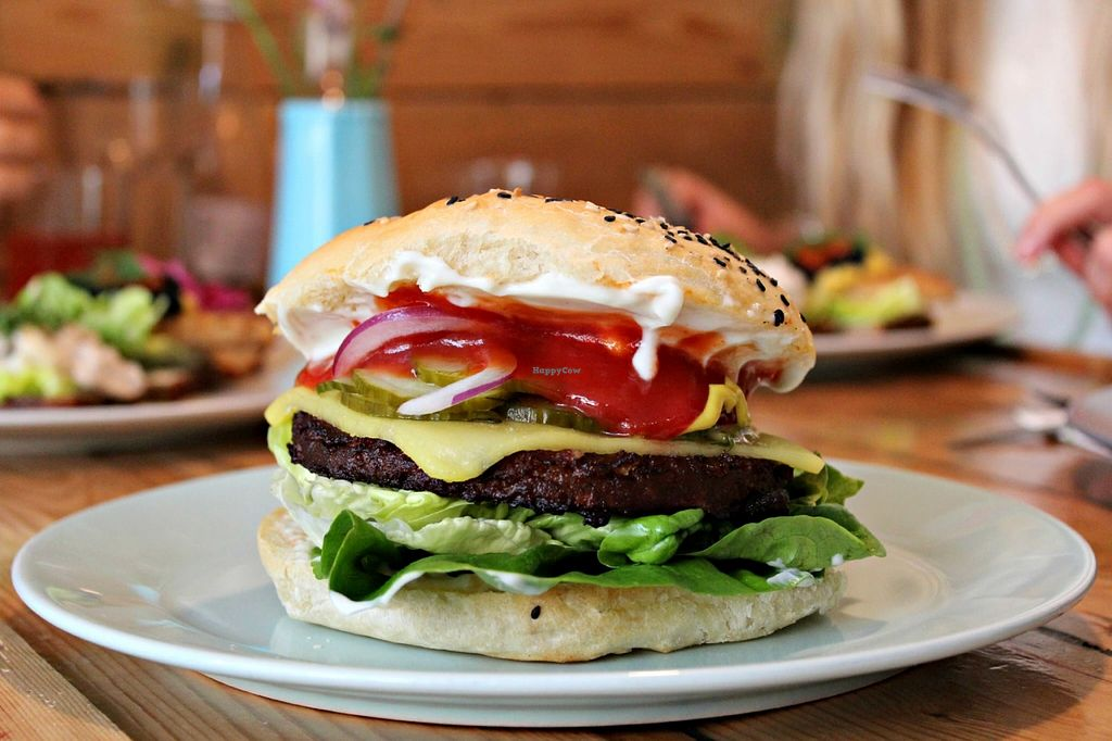 """Photo of Mikuna  by <a href=""""/members/profile/Line%20Vegan"""">Line Vegan</a> <br/>one of Mikunas awesome burgers <br/> September 2, 2015  - <a href='/contact/abuse/image/46560/116153'>Report</a>"""