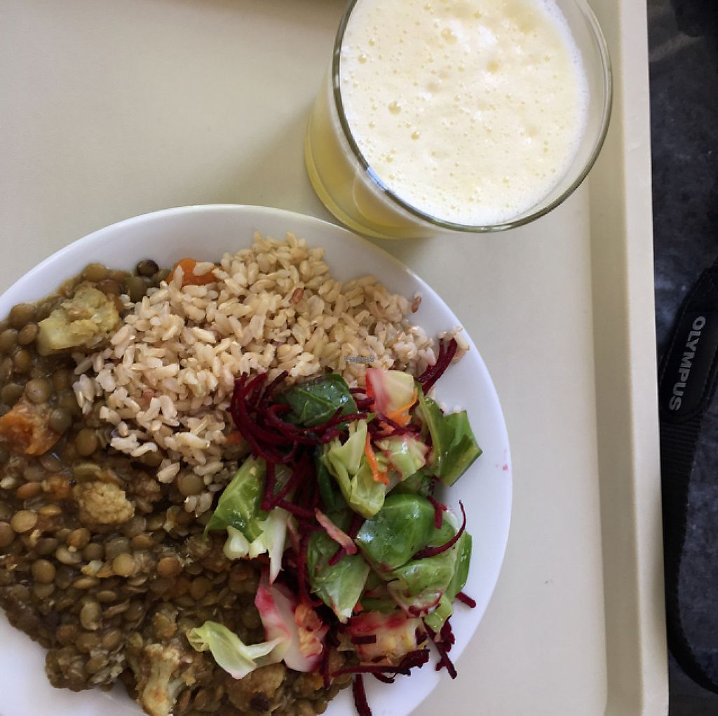 """Photo of Alfarroba  by <a href=""""/members/profile/Dianek"""">Dianek</a> <br/>totally delicious lunch with fresh pineapple juice <br/> April 4, 2017  - <a href='/contact/abuse/image/46569/244579'>Report</a>"""