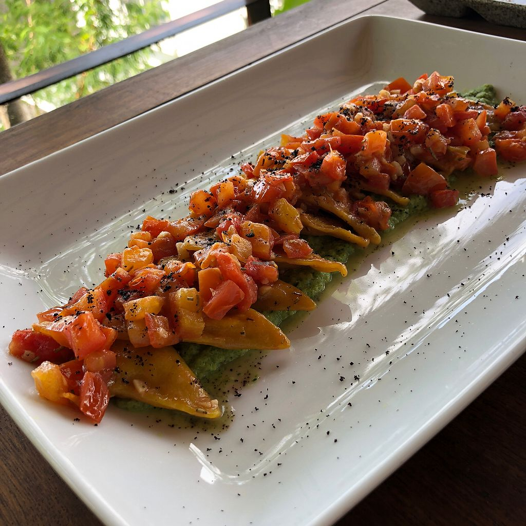 """Photo of Santosa  by <a href=""""/members/profile/earthville"""">earthville</a> <br/>Pumpkin ravioli  <br/> February 27, 2018  - <a href='/contact/abuse/image/46587/364468'>Report</a>"""