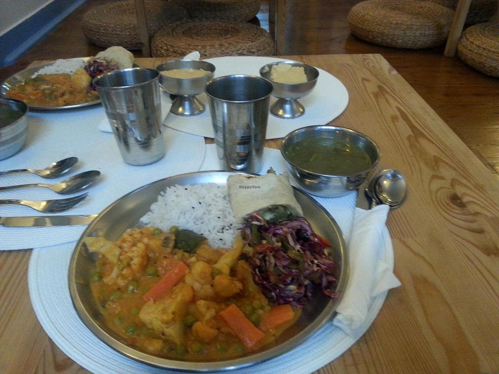 """Photo of Hare Krishna  by <a href=""""/members/profile/mbbl"""">mbbl</a> <br/>Veggie lunch <br/> June 19, 2014  - <a href='/contact/abuse/image/46605/72321'>Report</a>"""