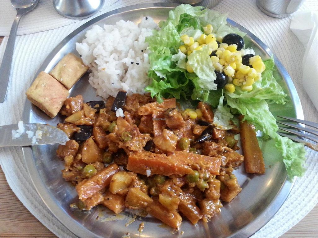 """Photo of Hare Krishna  by <a href=""""/members/profile/mbbl"""">mbbl</a> <br/>Lot's of veggie delicious food <br/> June 19, 2014  - <a href='/contact/abuse/image/46605/72322'>Report</a>"""