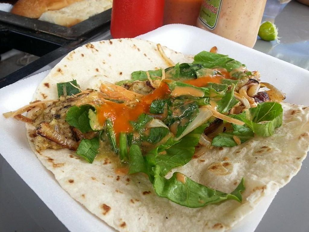 """Photo of La Oveja Verde  by <a href=""""/members/profile/salxvx"""">salxvx</a> <br/>Oat Chicharrón Burrito <br/> May 5, 2014  - <a href='/contact/abuse/image/46614/69392'>Report</a>"""