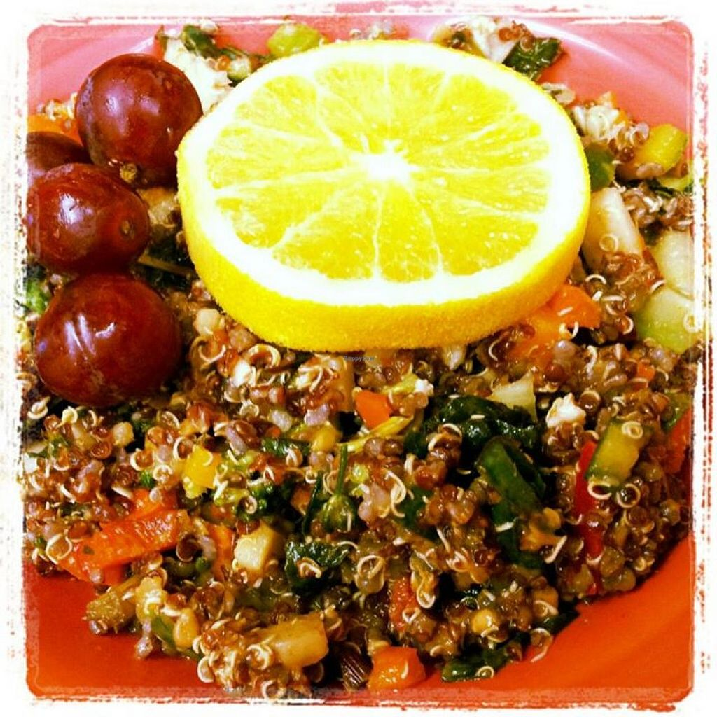 """Photo of Brewed Awakenings  by <a href=""""/members/profile/community"""">community</a> <br/>Quinoa salad dressed with a Thai peanut sauce <br/> May 31, 2014  - <a href='/contact/abuse/image/46618/71153'>Report</a>"""
