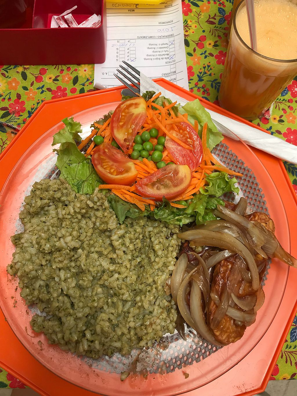 "Photo of Nascente um Gosto de Sol  by <a href=""/members/profile/bi1405"">bi1405</a> <br/>Rice and pesto, salad and tempeh  <br/> January 25, 2018  - <a href='/contact/abuse/image/46621/350645'>Report</a>"
