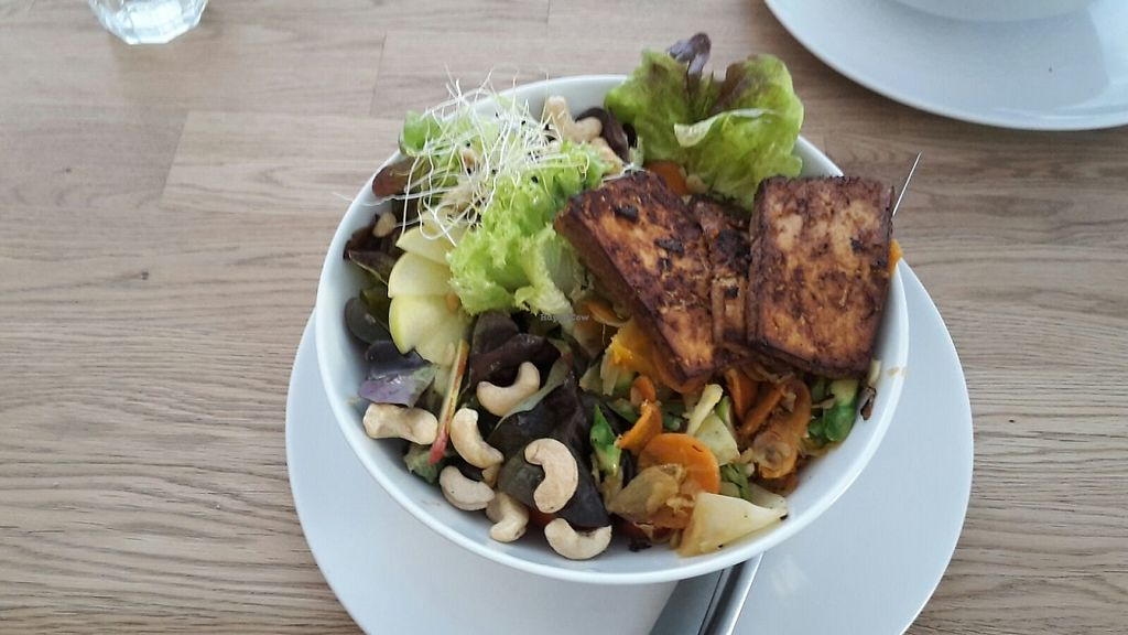 """Photo of Die Zauberei  by <a href=""""/members/profile/Mawu"""">Mawu</a> <br/>Salad with tofu and nuts.  <br/> May 31, 2017  - <a href='/contact/abuse/image/46632/264500'>Report</a>"""
