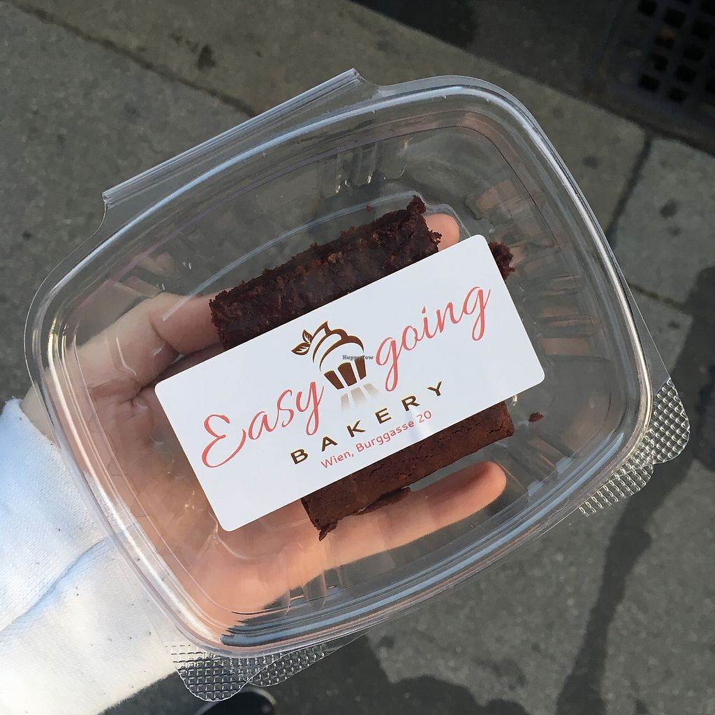 """Photo of Easy-Going Bakery  by <a href=""""/members/profile/LilyHarper"""">LilyHarper</a> <br/>Brownie in a take away box <br/> September 6, 2017  - <a href='/contact/abuse/image/46651/301521'>Report</a>"""