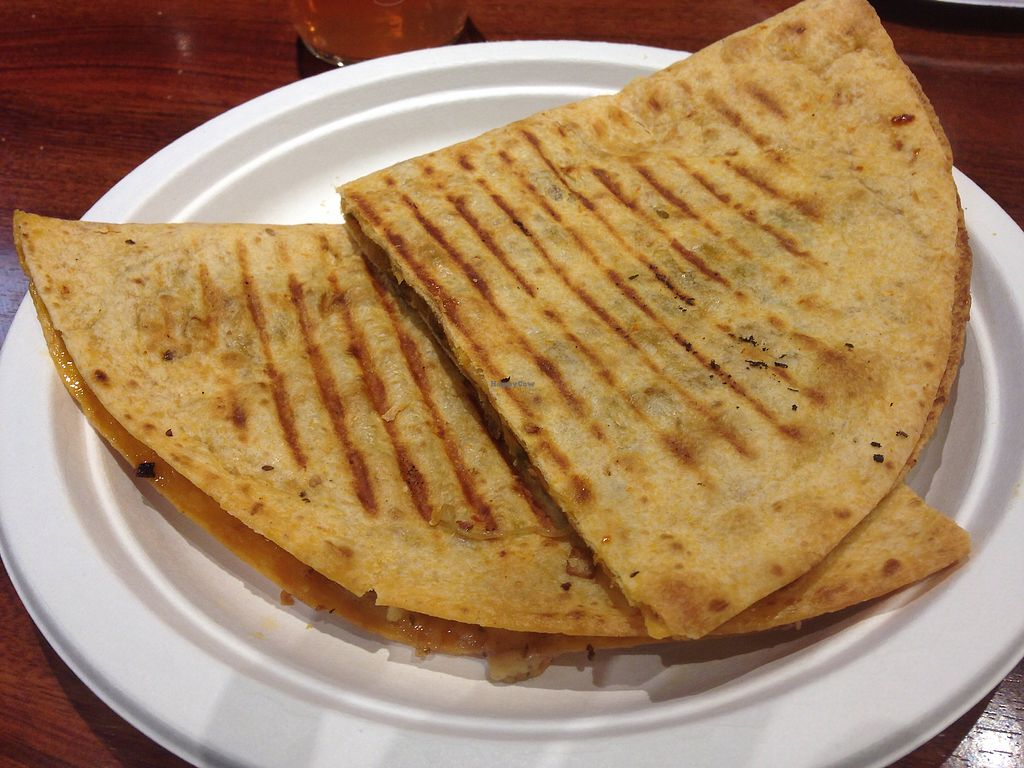 "Photo of Mother Earth Storehouse  by <a href=""/members/profile/vegangelic"">vegangelic</a> <br/>Vegan sausage & pepper quesadilla  <br/> February 16, 2018  - <a href='/contact/abuse/image/4665/360171'>Report</a>"