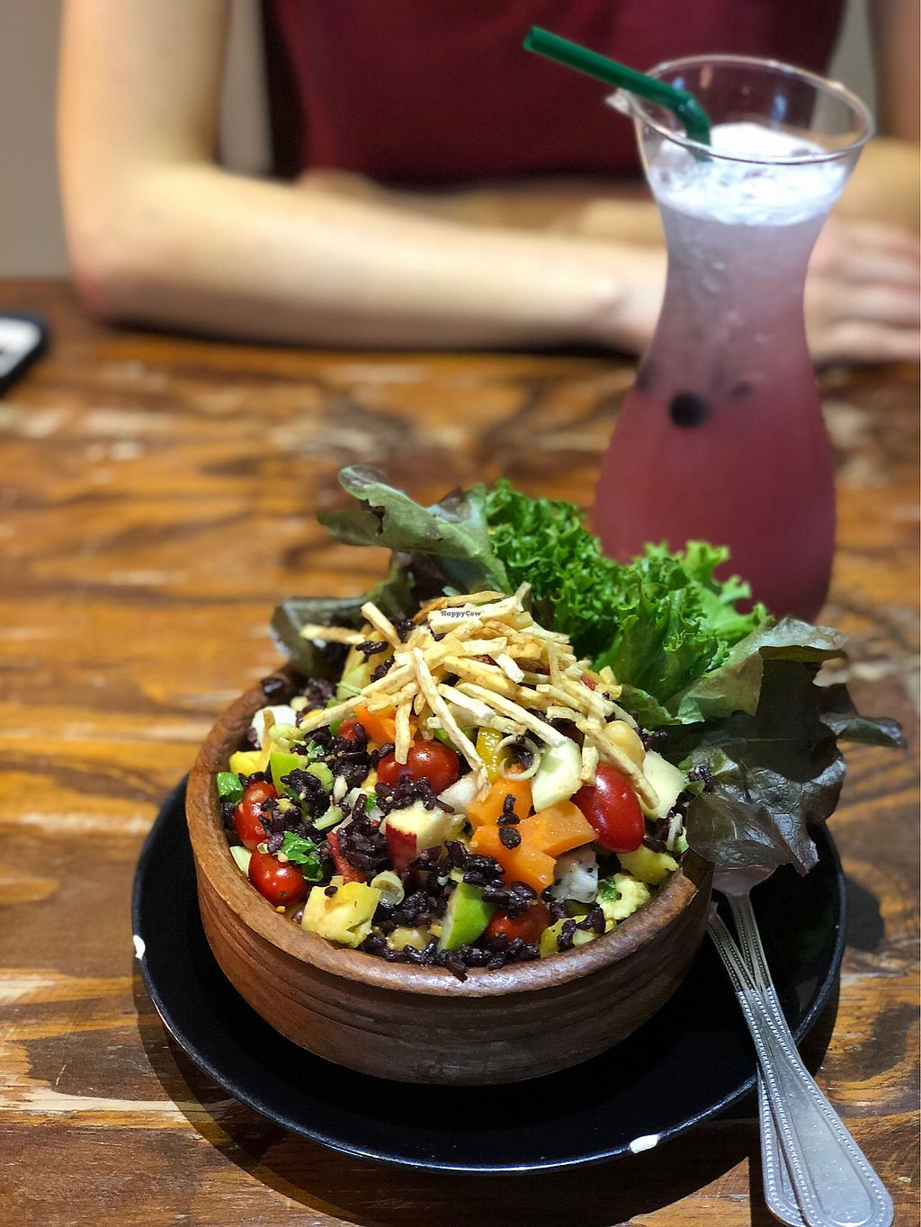 """Photo of Mango  by <a href=""""/members/profile/war.vic"""">war.vic</a> <br/>Brown Rice bowl with Blue lagoon Spritzer <br/> February 14, 2018  - <a href='/contact/abuse/image/46661/359218'>Report</a>"""