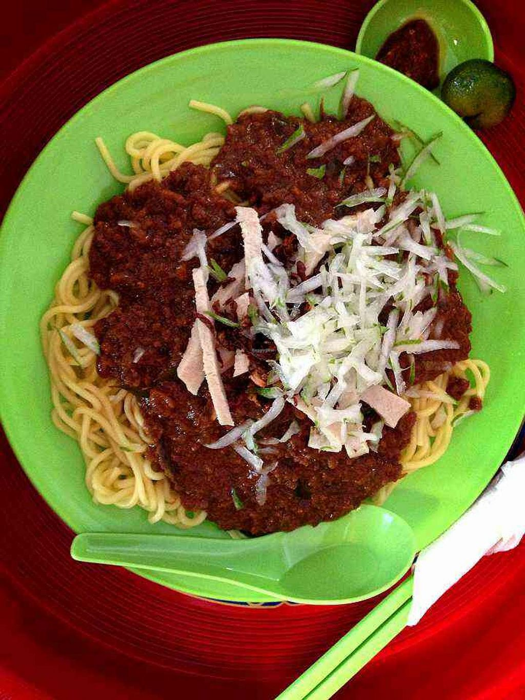 """Photo of CLOSED: Indo Vege  by <a href=""""/members/profile/tony%20surf"""">tony surf</a> <br/>Indonesian vegetarian rojak noodles. The gravy made from peanut sauces with spices. One of the chef favorite foods <br/> April 21, 2014  - <a href='/contact/abuse/image/46666/68227'>Report</a>"""