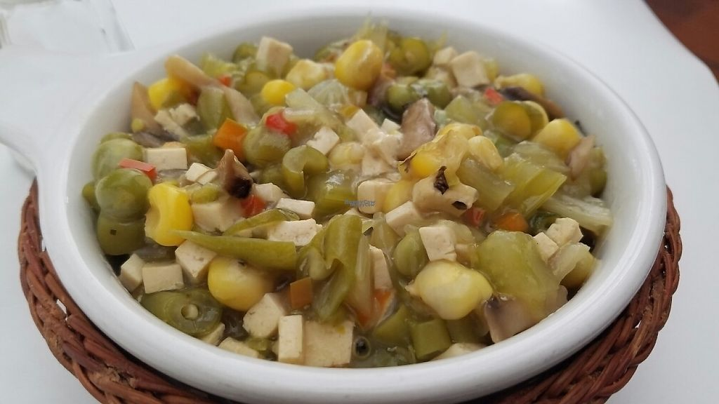 """Photo of Nirvana  by <a href=""""/members/profile/kenvegan"""">kenvegan</a> <br/>stew with mushroom, corn, tofu, and beans <br/> January 19, 2017  - <a href='/contact/abuse/image/46678/213333'>Report</a>"""