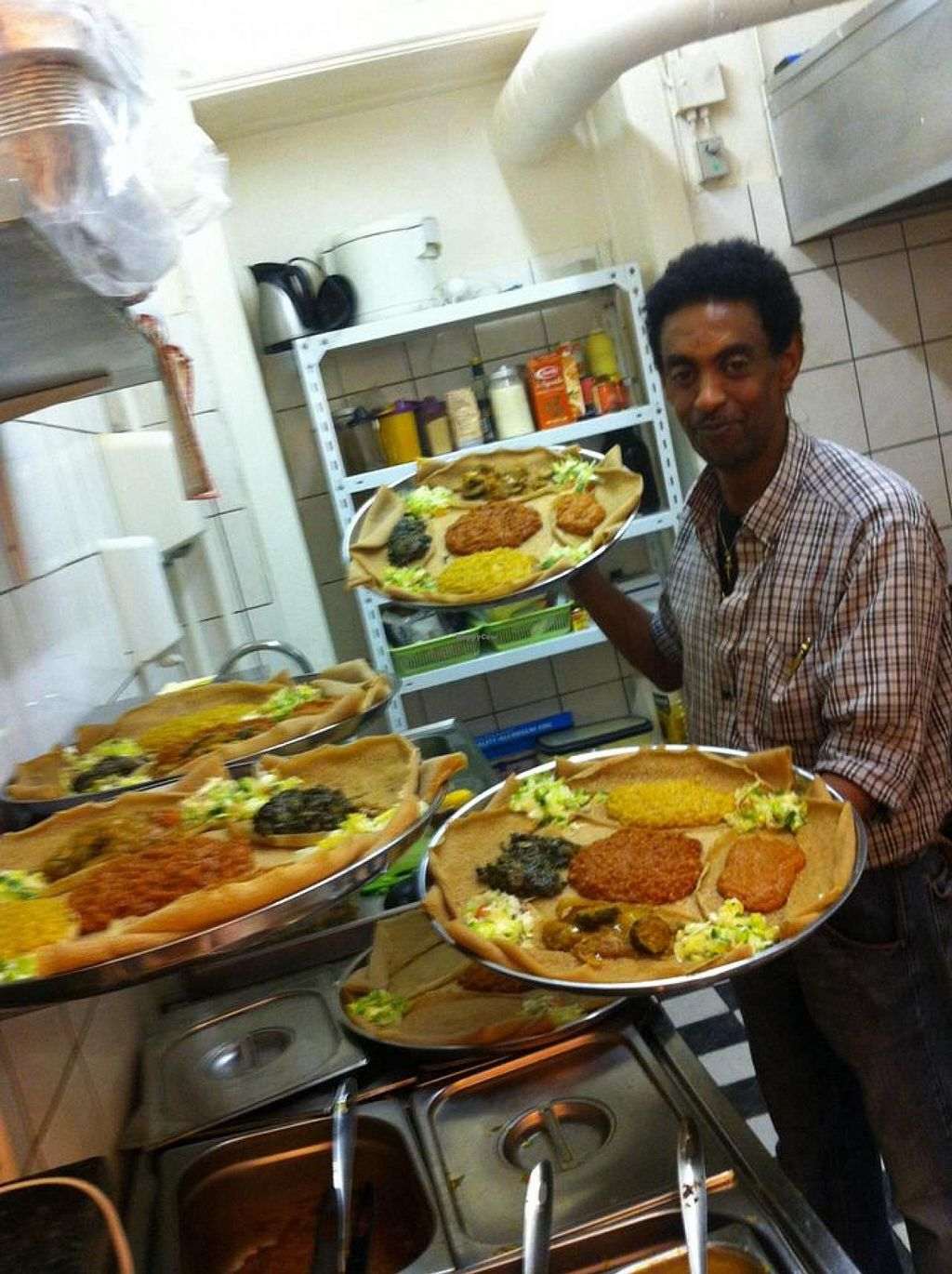 "Photo of Ma'ed Ethiopian  by <a href=""/members/profile/Ladan"">Ladan</a> <br/>Veggi dishes with Injera Bread <br/> May 4, 2014  - <a href='/contact/abuse/image/46723/69335'>Report</a>"