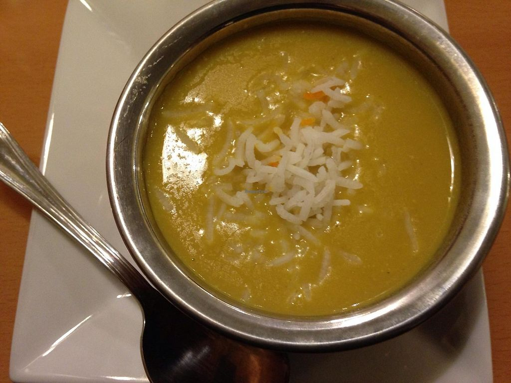 """Photo of Bethesda Curry Kitchen  by <a href=""""/members/profile/cookiem"""">cookiem</a> <br/>Vegan mulligatawny soup <br/> April 25, 2014  - <a href='/contact/abuse/image/46751/201757'>Report</a>"""