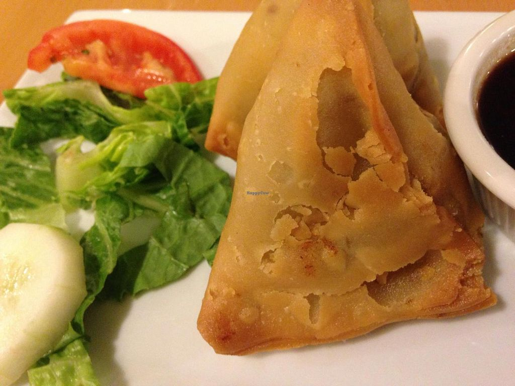 """Photo of Bethesda Curry Kitchen  by <a href=""""/members/profile/cookiem"""">cookiem</a> <br/>Vegan samosa- 2 per order <br/> April 25, 2014  - <a href='/contact/abuse/image/46751/68575'>Report</a>"""