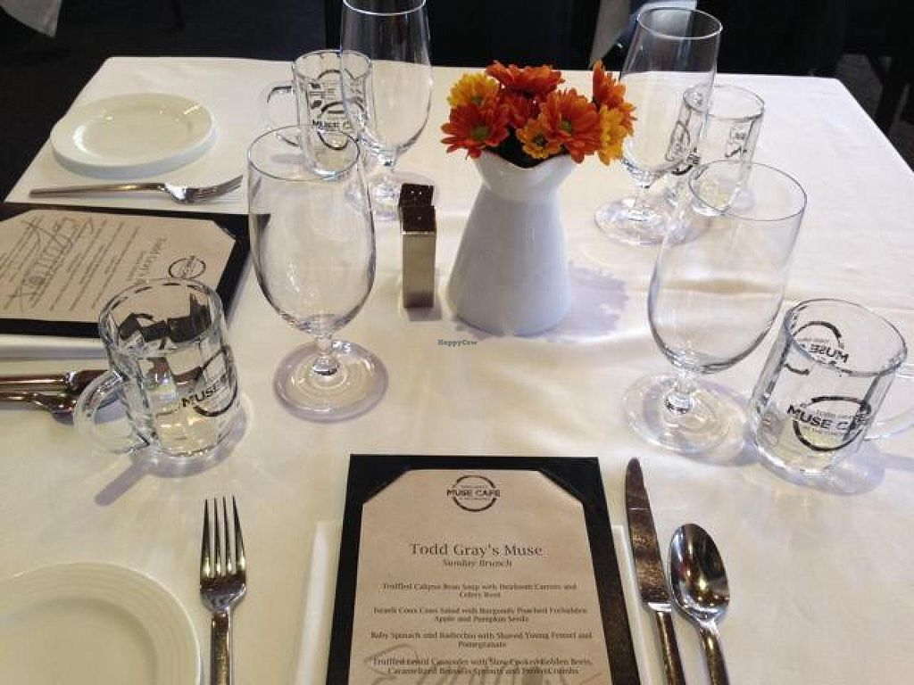 "Photo of Equinox Restaurant  by <a href=""/members/profile/happycowgirl"">happycowgirl</a> <br/>table settings <br/> October 26, 2014  - <a href='/contact/abuse/image/46752/84008'>Report</a>"