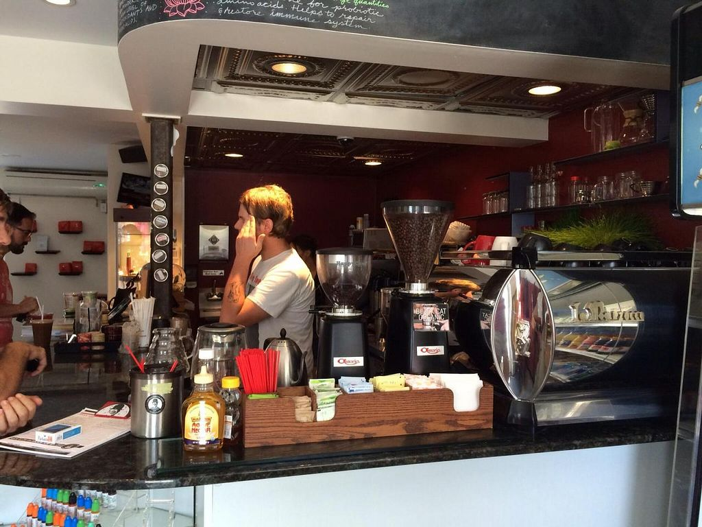 """Photo of Harold's Coffee Lounge  by <a href=""""/members/profile/kmilitello"""">kmilitello</a> <br/>Coffee bar, wheat grass <br/> April 23, 2014  - <a href='/contact/abuse/image/46753/68357'>Report</a>"""
