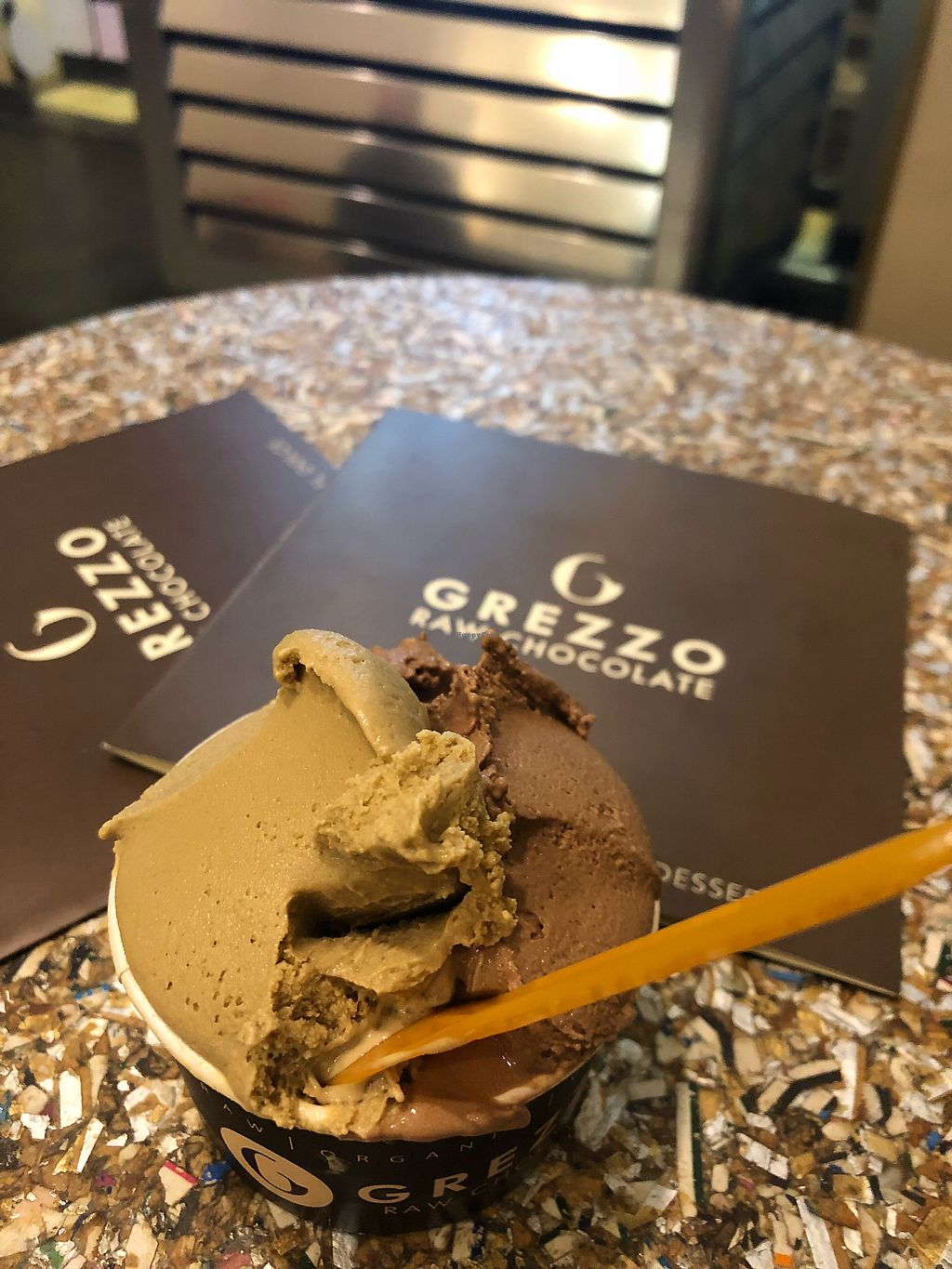 "Photo of Grezzo Raw Chocolate  by <a href=""/members/profile/_hael"">_hael</a> <br/>Pistachio & Chocolate Raw Gelato <br/> February 27, 2018  - <a href='/contact/abuse/image/46755/364518'>Report</a>"