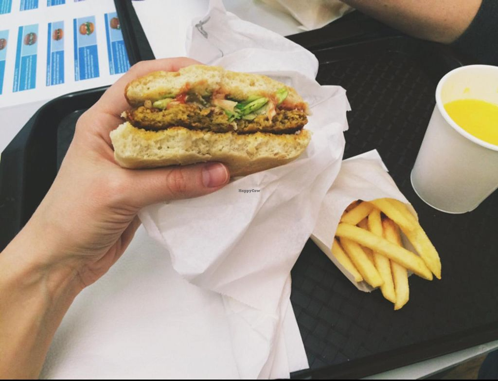 """Photo of Istvanffi Veggie Burger - Lajos  by <a href=""""/members/profile/LadyZagon"""">LadyZagon</a> <br/>Istvanffi burger (hunger beat camera) <br/> February 17, 2015  - <a href='/contact/abuse/image/46779/93431'>Report</a>"""