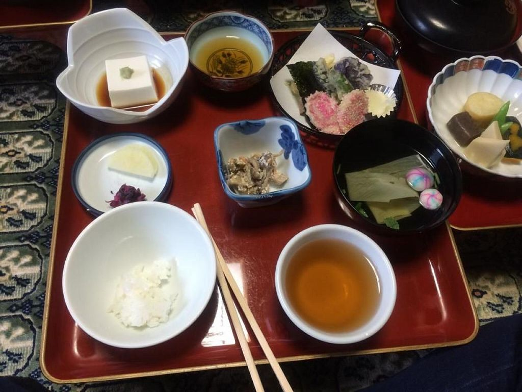 """Photo of Ekoin  by <a href=""""/members/profile/Meggie%20and%20Ben"""">Meggie and Ben</a> <br/>Shojin Ryori (traditional Buddhist cuisine) is cooked by the monks and served to you in your room. All of the food is vegan <br/> August 16, 2014  - <a href='/contact/abuse/image/46843/77190'>Report</a>"""