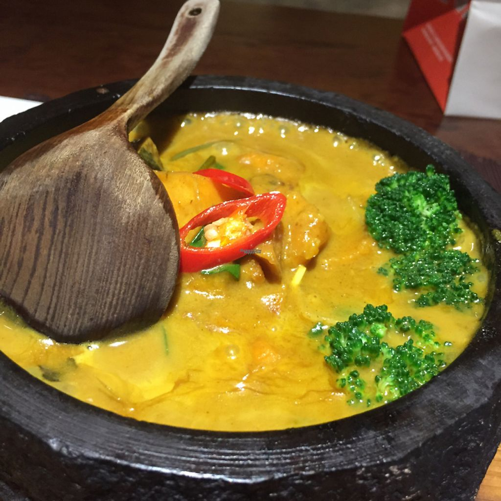 "Photo of WUJIE - The Bund  by <a href=""/members/profile/vegannomad2"">vegannomad2</a> <br/>Thai yellow curry, perhaps not do fresh <br/> November 23, 2016  - <a href='/contact/abuse/image/46847/193547'>Report</a>"