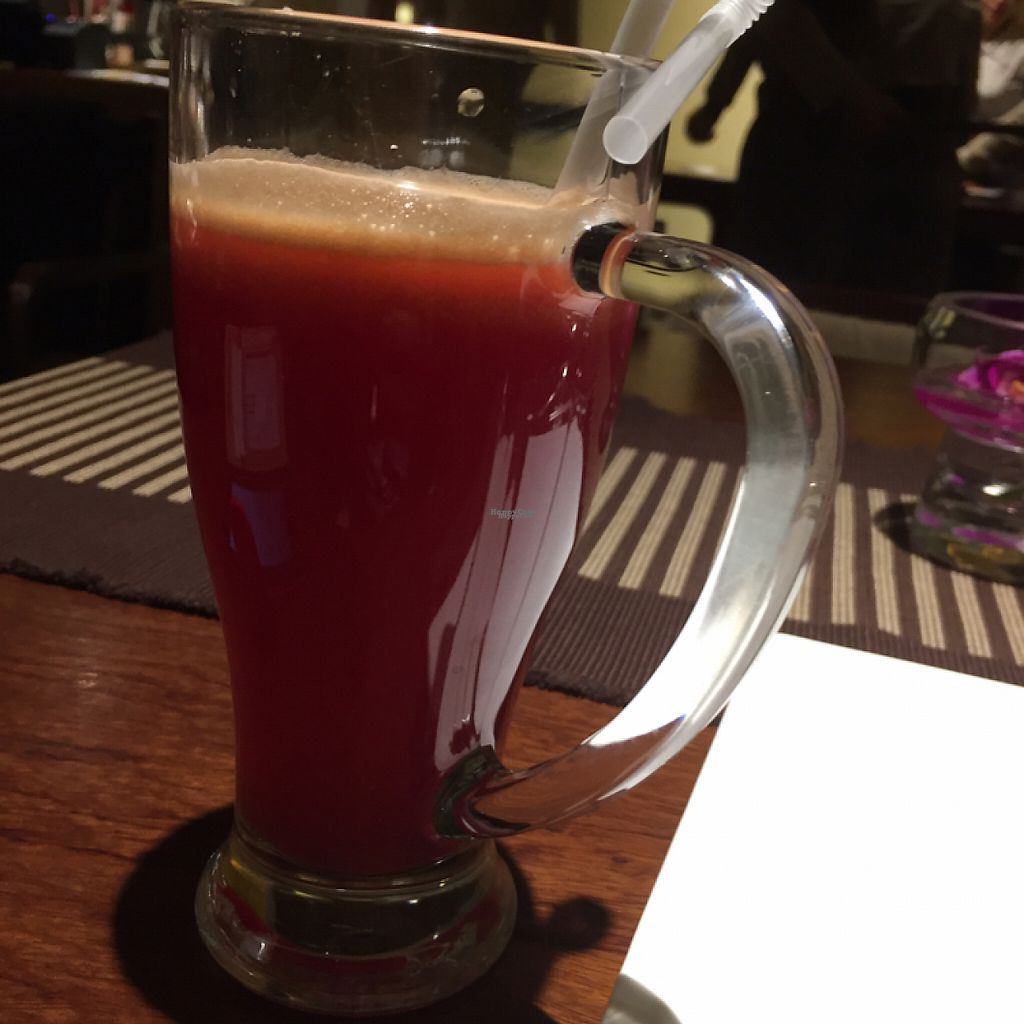 "Photo of WUJIE - The Bund  by <a href=""/members/profile/vegannomad2"">vegannomad2</a> <br/>carrot pineapple juice  <br/> November 23, 2016  - <a href='/contact/abuse/image/46847/193550'>Report</a>"