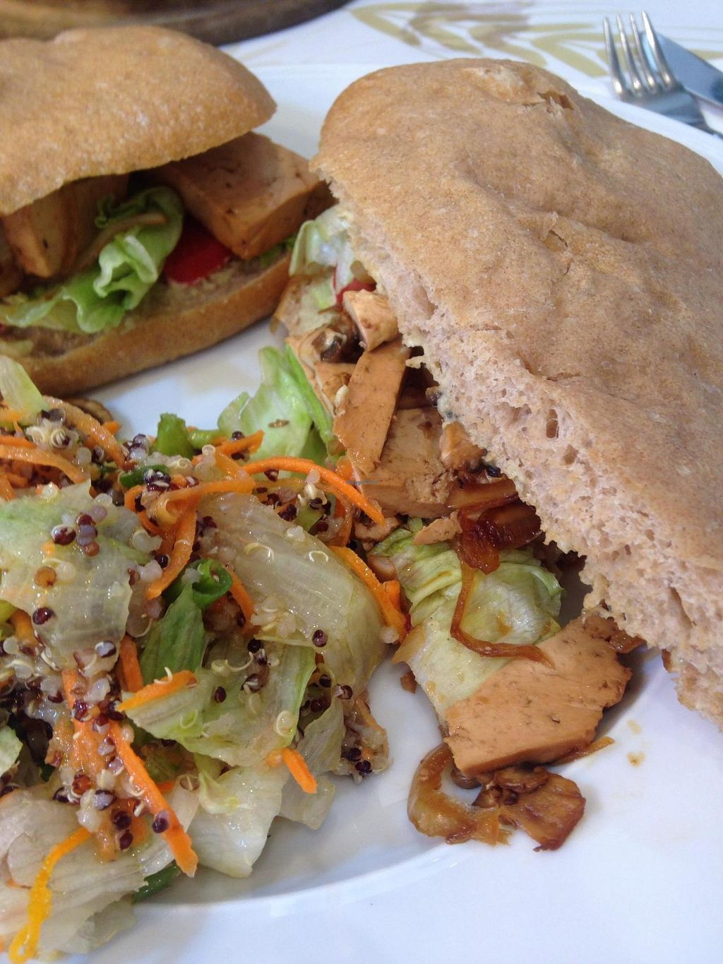 """Photo of Cafe Louise - Ramat HaHayal  by <a href=""""/members/profile/Brok%20O.%20Lee"""">Brok O. Lee</a> <br/>Vegan Sandwich <br/> October 16, 2014  - <a href='/contact/abuse/image/46853/83081'>Report</a>"""