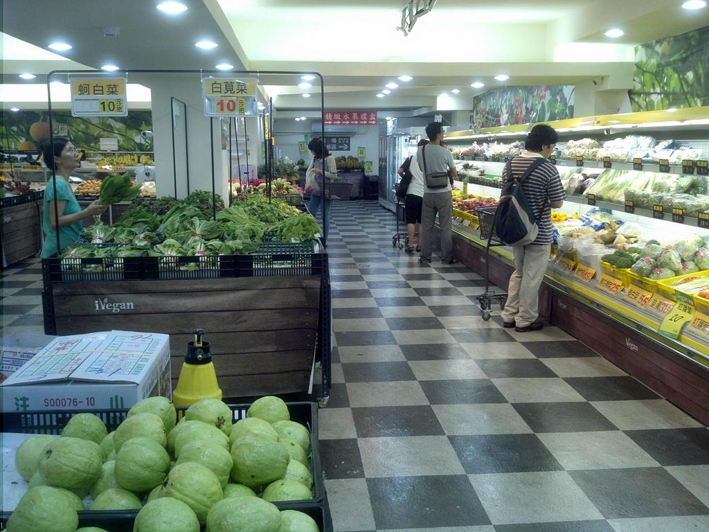 """Photo of iVegan Supermarket  by <a href=""""/members/profile/dicer"""">dicer</a> <br/>Produce section <br/> August 28, 2014  - <a href='/contact/abuse/image/46854/78427'>Report</a>"""