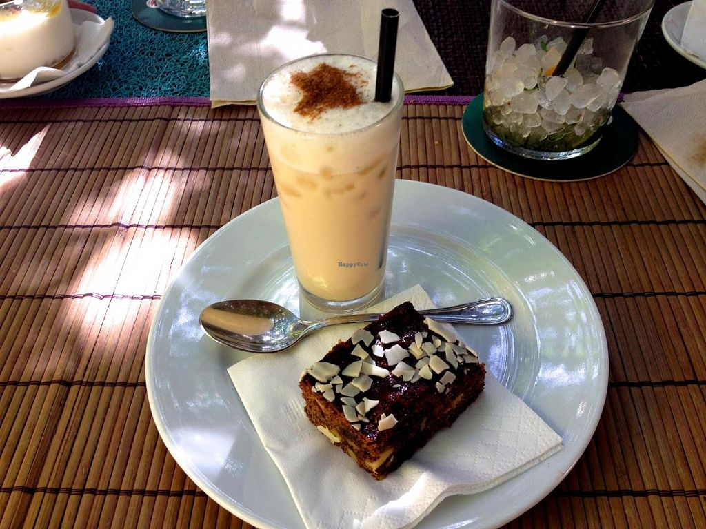 "Photo of Temple Natura  by <a href=""/members/profile/Katharinenstrasse"">Katharinenstrasse</a> <br/>Dessert (frozen chai latte with brownie) <br/> October 22, 2014  - <a href='/contact/abuse/image/46856/83628'>Report</a>"